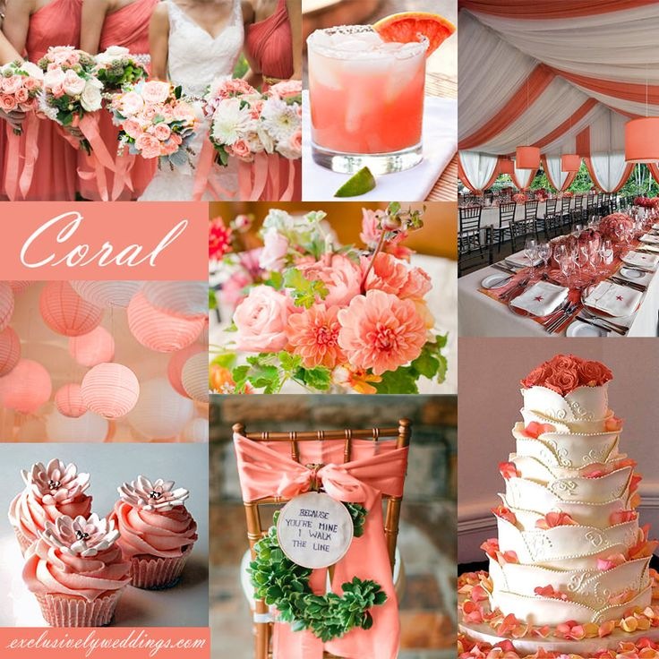 Glamorous-Coral-Pink-Wedding-Decorations-82-On-Table-Centerpieces-For-Wedding-with-Coral-Pink-Wedding-Decorations