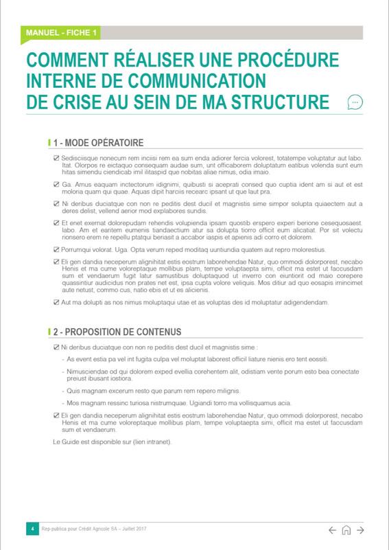Manuel PPT A4 en diaporama - Crédit Agricole