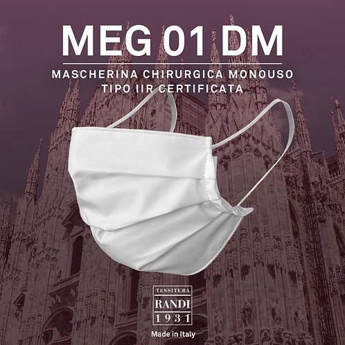 MEG 01 DM - mascherina chirurgica monouso tipo IIR certificata - 50 mascherine