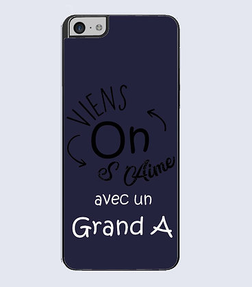 Coque mobile iphone citation viens