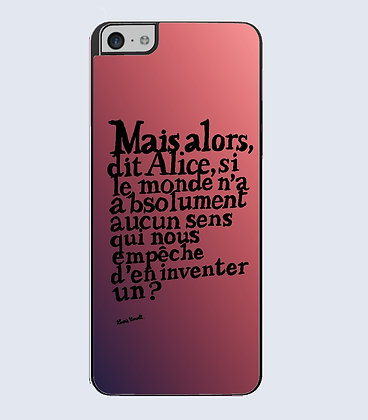 Coque mobile iphone citation alice