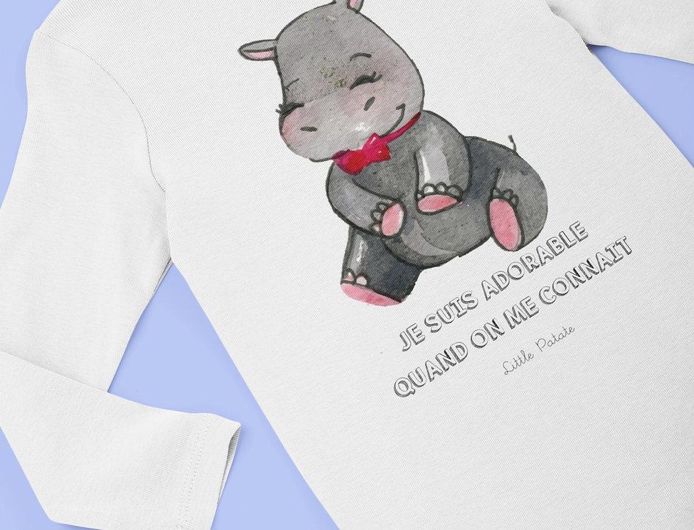 Body Bébé Hippo Je suis adorable 63