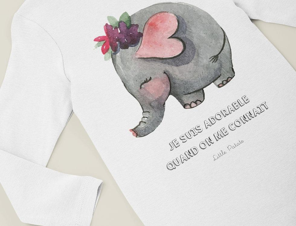 Body Bébé Éléphant Je suis adorable 64