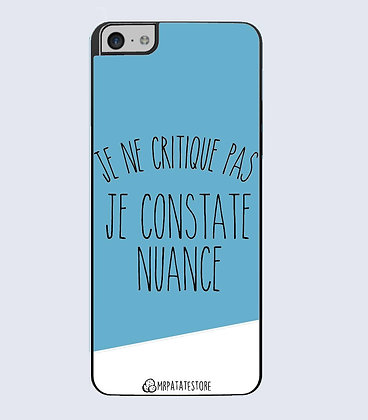 Coque mobile iphone citation critique