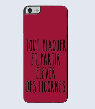 Coque mobile iphone citation licorne