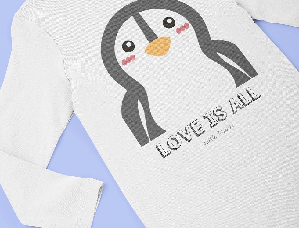 Body Bébé Pingouin Love is all 59