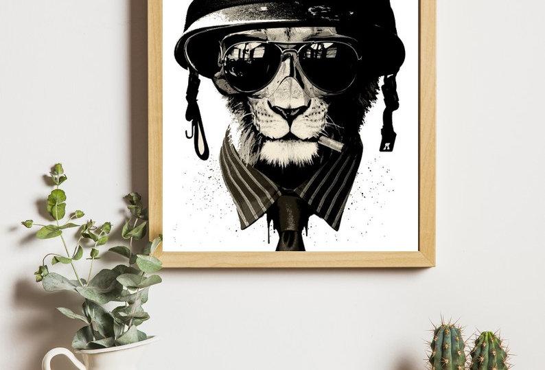 Affiche lion swag
