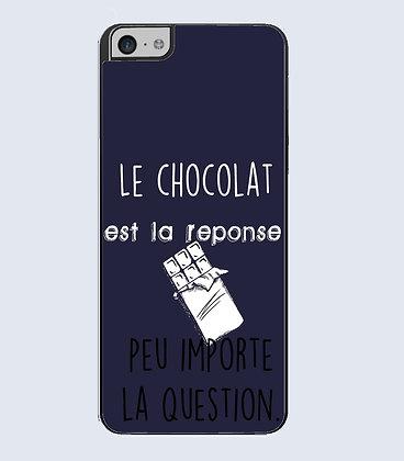 Coque mobile iphone citation chocolat
