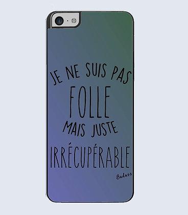 Coque mobile iphone citation folie
