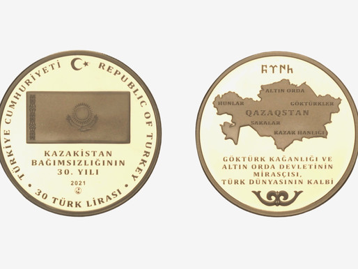 Kazakistan'ın 30. Yılı Anısına Hatıra Para Basıldı