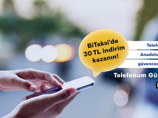 Anadolu Sigorta ile BiTaksi'de 30 TL indirim kazanın!