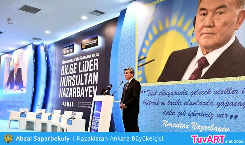Kazakistan Ankara Büyükelçisi  Abzal Saparbekuly