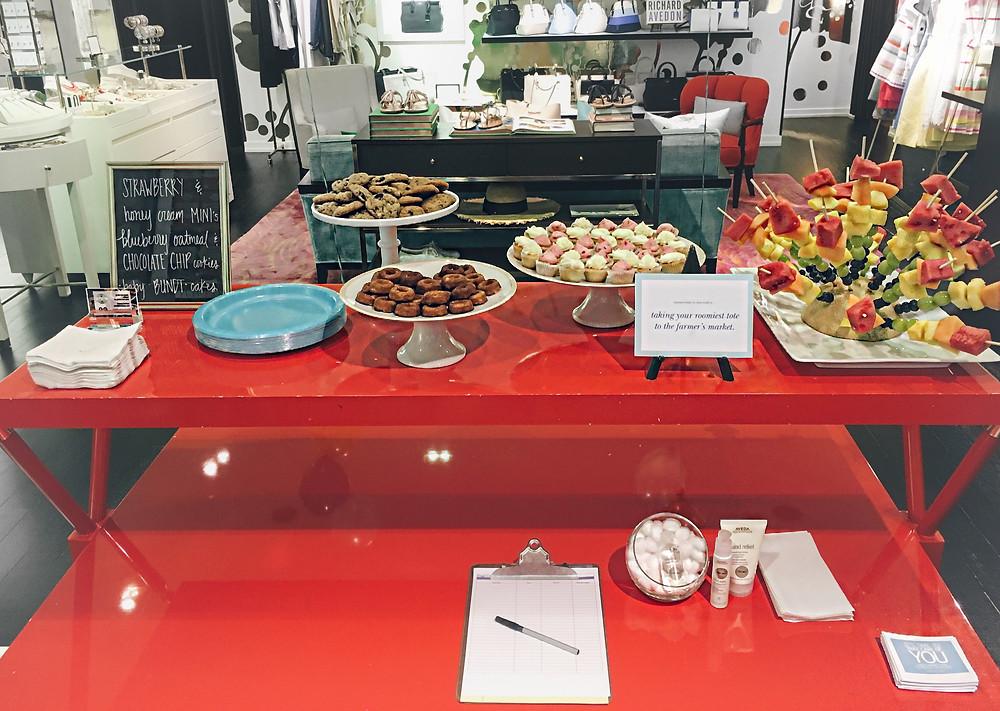 The treats table!
