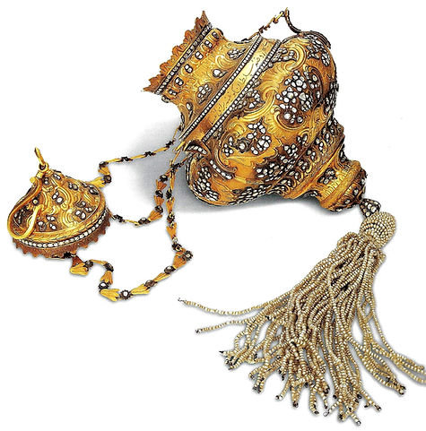 topkapı sarayı eserleri, kandil askısı, altın eşya, altın sanatı, altın tutkusu, osmanlı, Türk sanatı