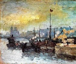 Nazmi Ziya - Paris'te Seine Nehri