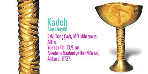 Alacahöyük, Altın Kadeh, Türk Sanatı