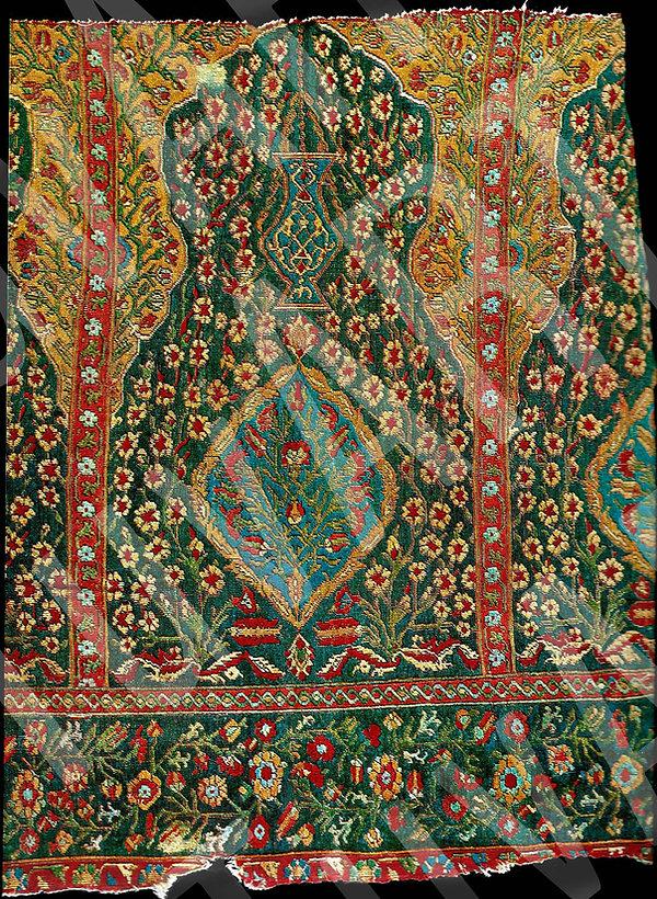 Uşak halısı, seccade, cami, Türk sanatı