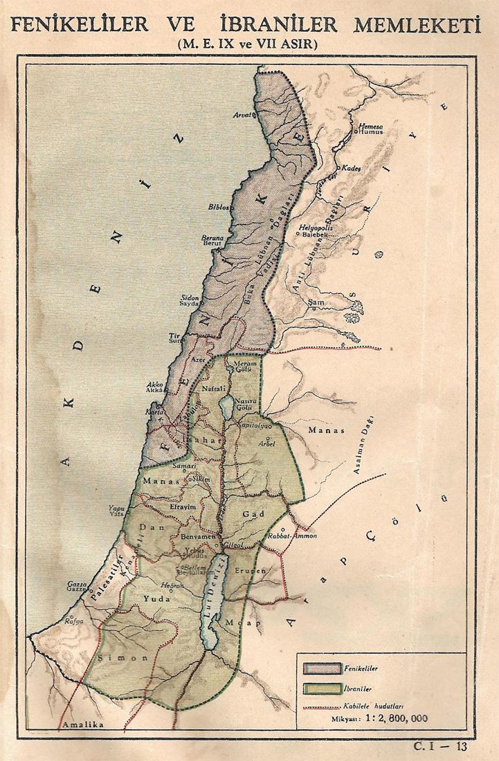 Fenikeliler ve İbraniler Memleketi