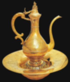 topkapı sarayı eserleri, altın leğen, altın ibrik, osmanlı, Türk sanatı