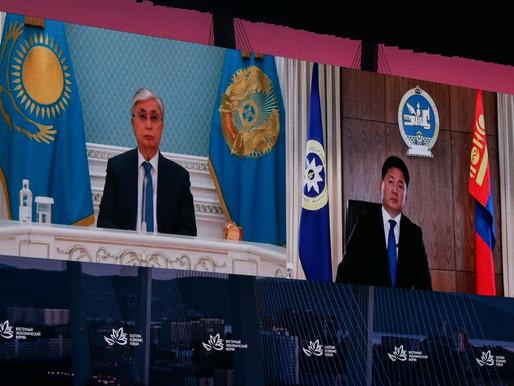 Uhnaagiyn Hürelsüh, Doğu Ekonomik Forumu'nda hitap etti