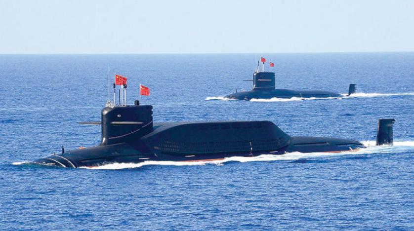 Güney Çin Denizi'ndeki tatbikatlara katılan  bir Çin nükleer denizaltısı. (Reuters)