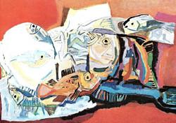 Ercüment Kalmık - Balıklı Natürmort
