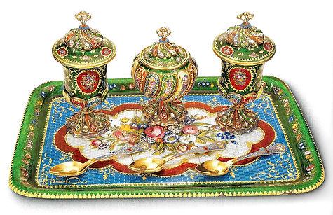 topkapı sarayı eserleri, altın eşyalar, tatlı takımı, osmanlı, Türk sanatı, altın sanatı