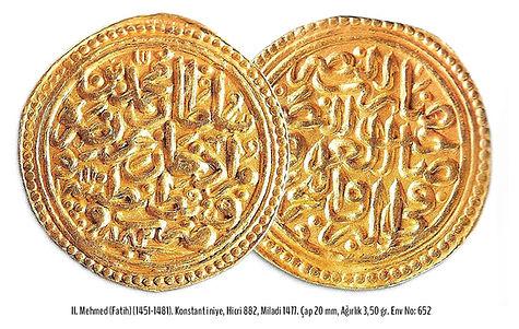 Fatih Sultan Mehmet, Osmanlı Altın Parası, Osmanlı Sikkeleri, Türk Sanatı