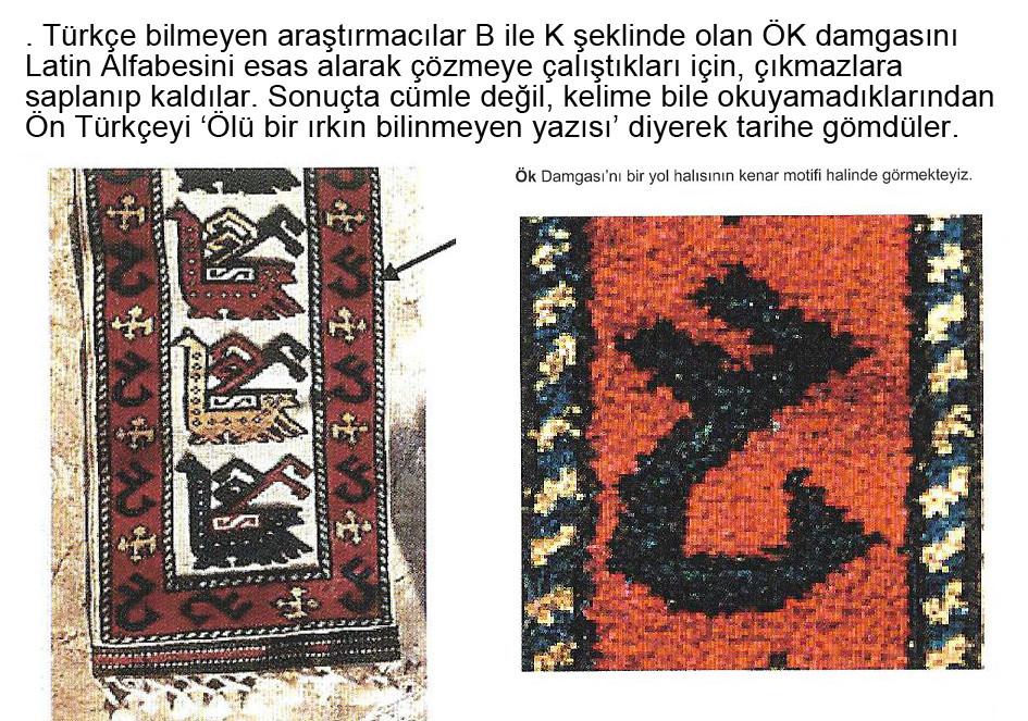 Kaf, Ök tamgası, Ön Türkçe, Tuvart, damgalar