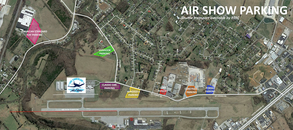 Lake Cumberland Air Show Parking