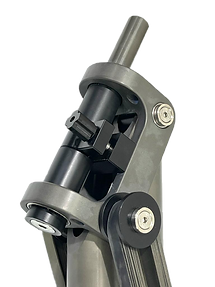 Arm end with rotating bearings
