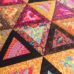 Patchwork quilt. Part of patchwork quilt