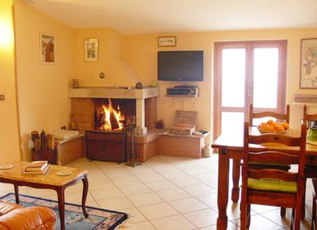 Enjoy a real log fire if visiting outside of summer