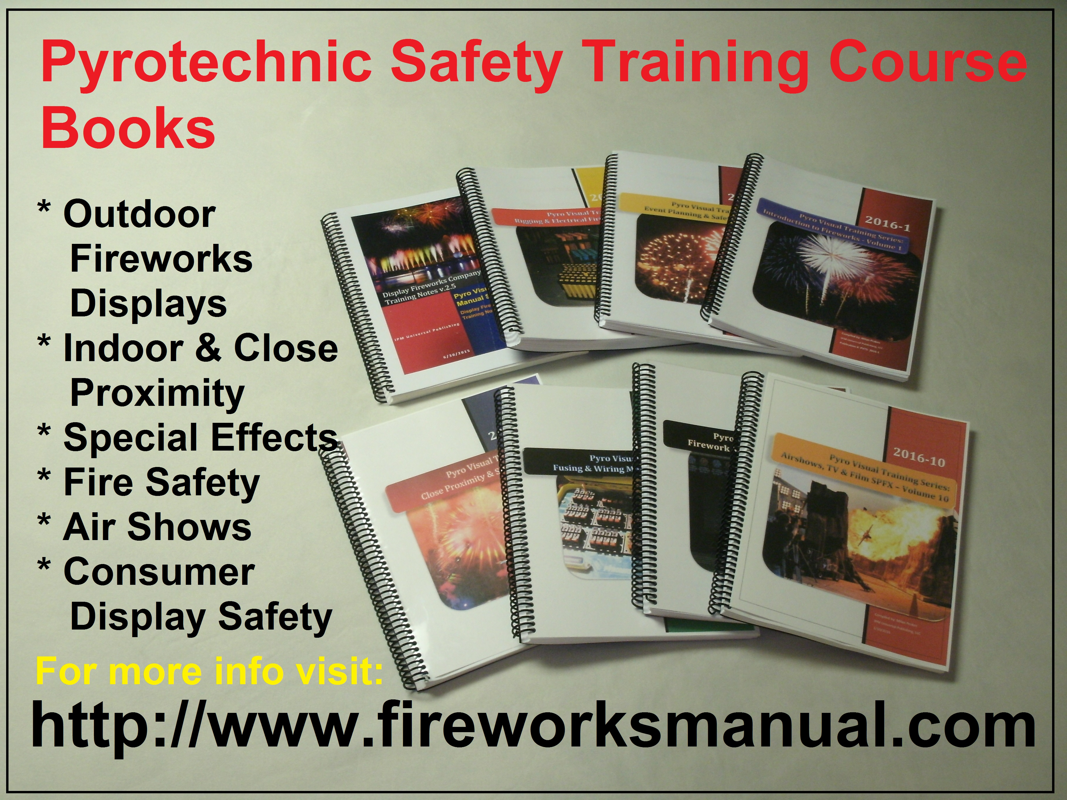 Pyrotechnics Fireworks Training Safety Manuals Electrical Wiring Books