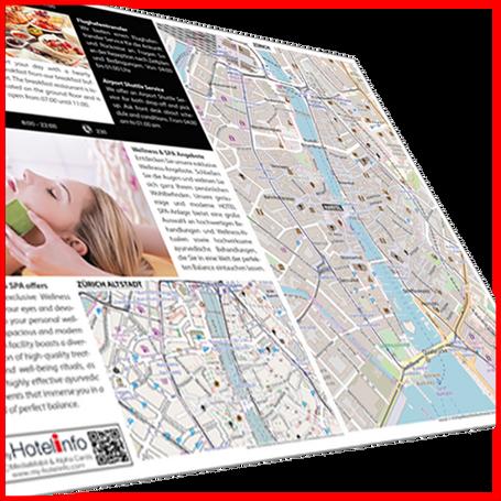 myHOTEL Card mit Stadtplan