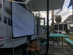 Setting up outdoor movies!Couplescience Virtual Couples Coaching Kathleen Anderson LMHC LLC
