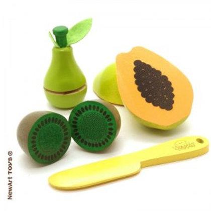 Frutas - Pêra, mamão, kiwi