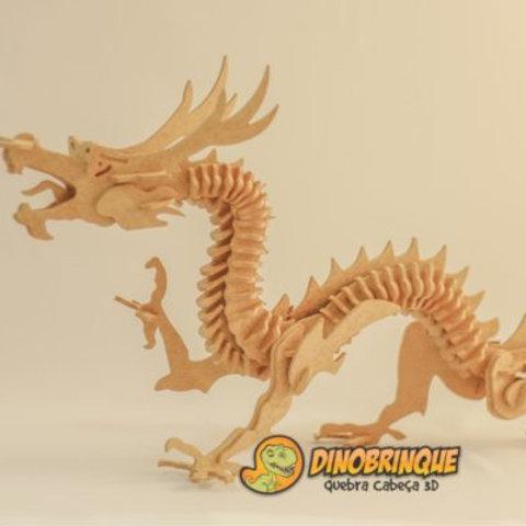 Dragão - Quebra Cabeça 3D