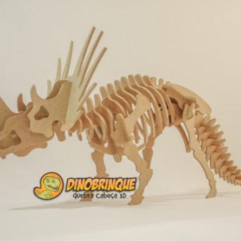 Triceratops - Quebra Cabeça 3D