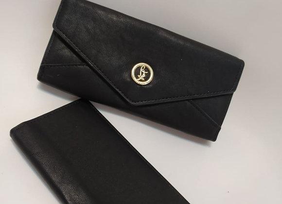 Carteira envelope preta