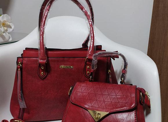 Kit 2 bolsas vermelhas