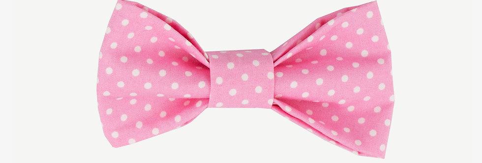 Pink Polka Dot Bow Tie