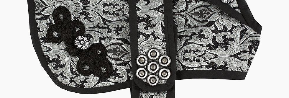 Floral Silver Jacquard Dog Coat