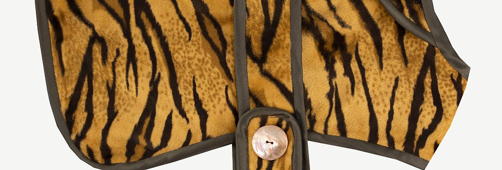 Tiger Print Dog Coat