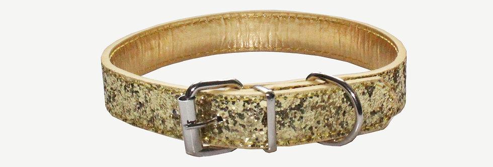 Gold Glitter Dog Collar