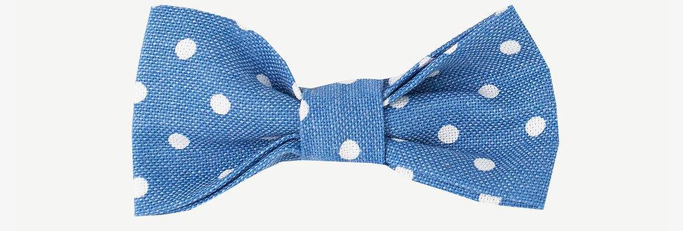 Pale Blue Polka Dot Bow Tie