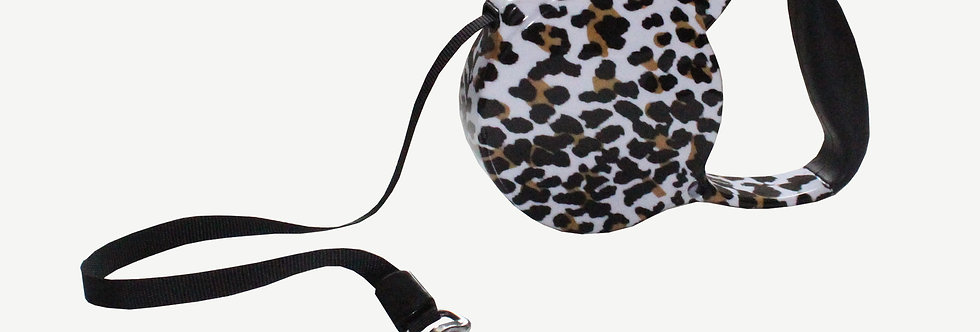 Leopard Extendable Dog Lead