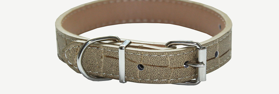 Tan Croc Dog Collar