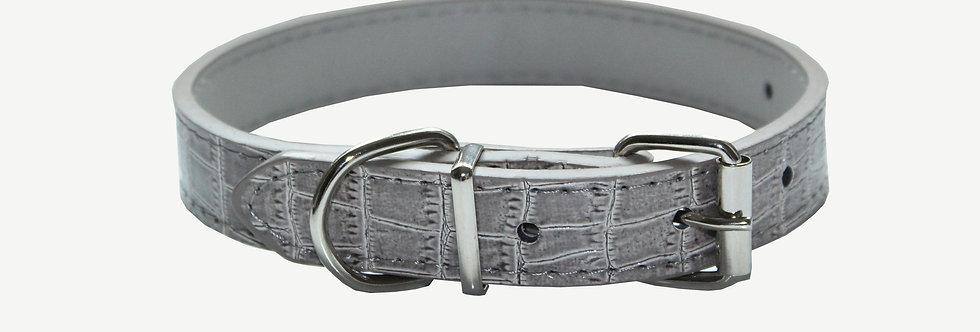 Grey Croc Dog Collar