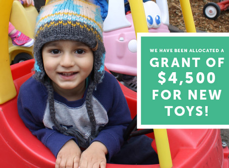 New Toy Grant for $4,500!